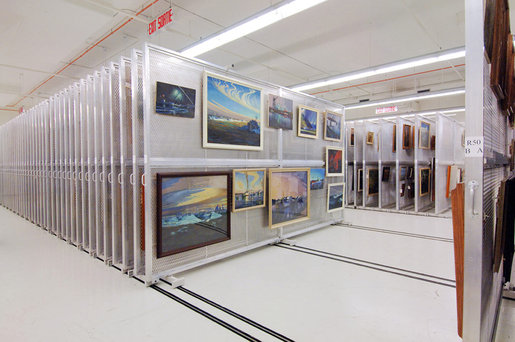 Lateral Mobile Art Rack at Canadian War Museum