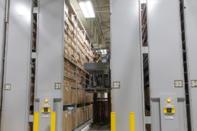 Long-Term Evidence Storage on Mobile High-Bay Shelving System