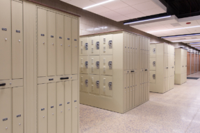 Duty Bag Lockers at Police Department