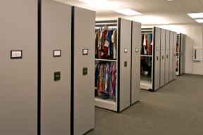 Retail Storage with Powered Electric Mobile Shelving