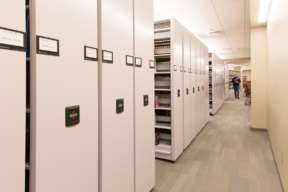 Emory University with powered mobile shelving