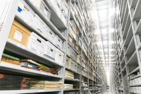 Archival Storage on High-Bay Shelving