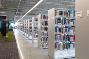 Illuminated Cantilever Shelving at Library