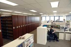 Law Library using Electric High-Density Mobile Shelving