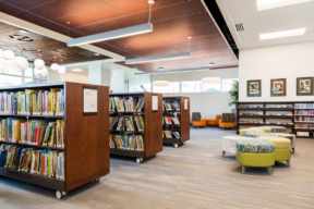 Cantilever Shelving on Casters at Library