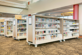 Library Book Cantilever Shelving Carts