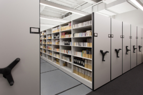 Archival Storage on Mechanical Assist High-Density Mobile Shelving