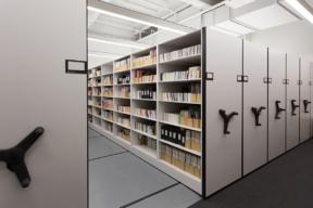 Archival Storage on Mechanical Assist High-Density Mobile Shelving