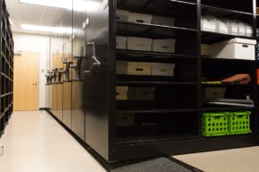 Clayton State University for Stuff Storage on Low-Profile Mobile Shelving
