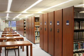 Powered Mobile Shelving in Library