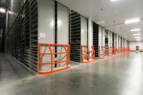 Higher Education Off-Site Library High-Bay Shelving System