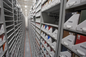 University Off-Site Storage with XTend Mobile High-Bay Shelving System
