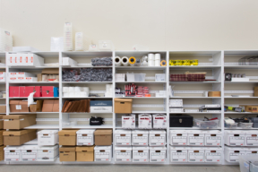 4 Post Shelving for Office Storage. Mail and copy room Storage
