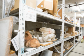Overrsized Museum Artifact Storage on Wide Span Shelving