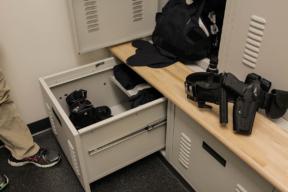Police Department Equipment Locker