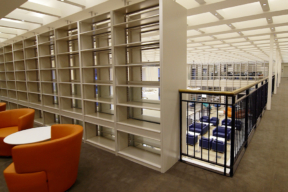 Multi-Level Library 4-Post Shelving Architectural Display