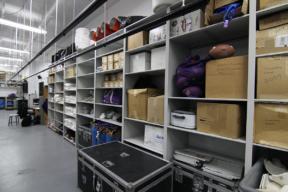 University Football Team Adjustable Shelving System - 4-Post Shelving