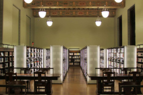 St. Louis Library Illuminated Cantilever Shelving