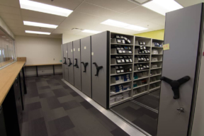 Low Profile Mobile Shelving