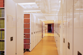 Powered Mobile Shelving at College of Charleston