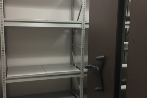 Wide Span Shelving Against Wall