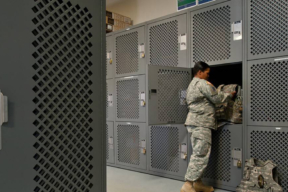 Tactical Readiness Locker on Military Base