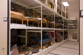 Oversized Museum Artifact Storage on Wide Span Shelving