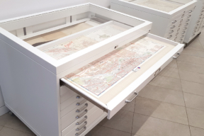 Map Cabinet Display Flat File Cabinet