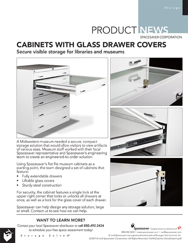 Flat File Cabinets with Glass Covers