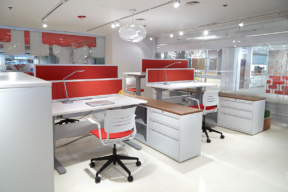 Lateral Filing Cabinets between office spaces
