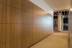 Sleek wood laminate touchless Workplace Lockers -Day-Use Lockers